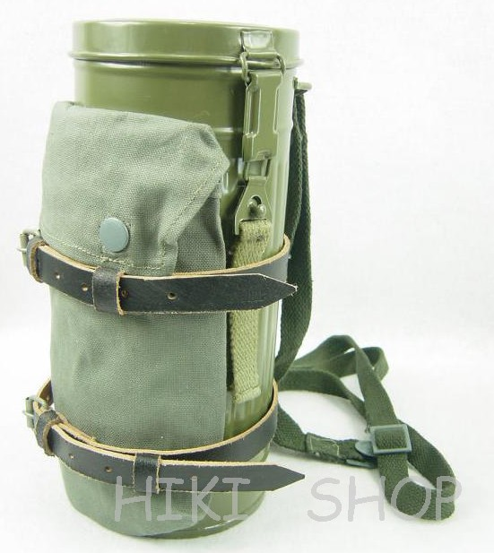 WWII German Gas Mask Canister Set Field Gray Reproduction