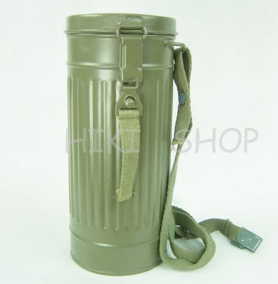 WWII German Gas Mask Canister Repro Field Gray