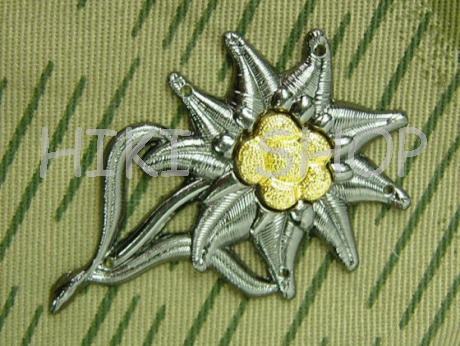 WWII German Mountain Troop EM Cap Insignia
