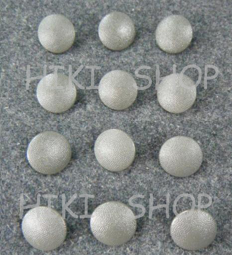Painted Officer Pebble Grain Tunic Buttons Fieldgrey 21mm x12