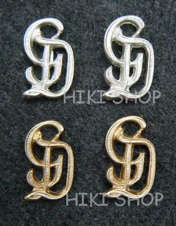 WW2 German shoulder band metal GD Pins X 4