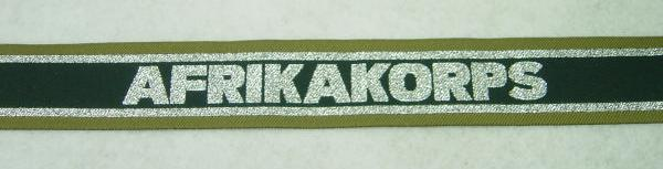 WW2 German Afrikakorps DAK Cuff Title Green