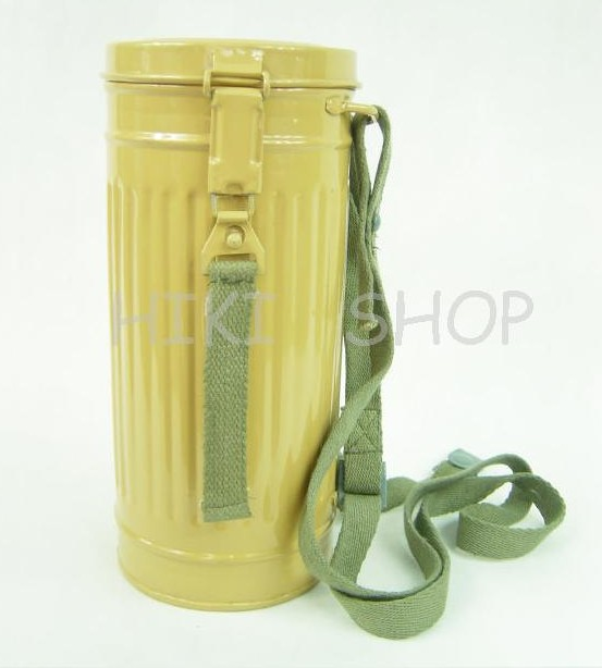 WWII German Gas Mask Canister Repro Sand Yellow