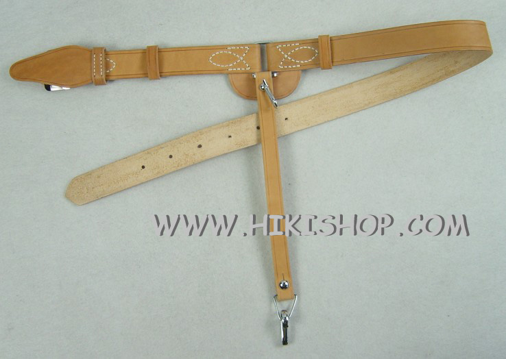 WW2 Japan IJA NCO Leather Sword Belt New Version