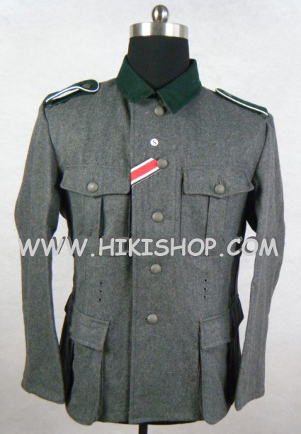 WWII German M36 EM wool Field Tunic Stone Grey Reproduction