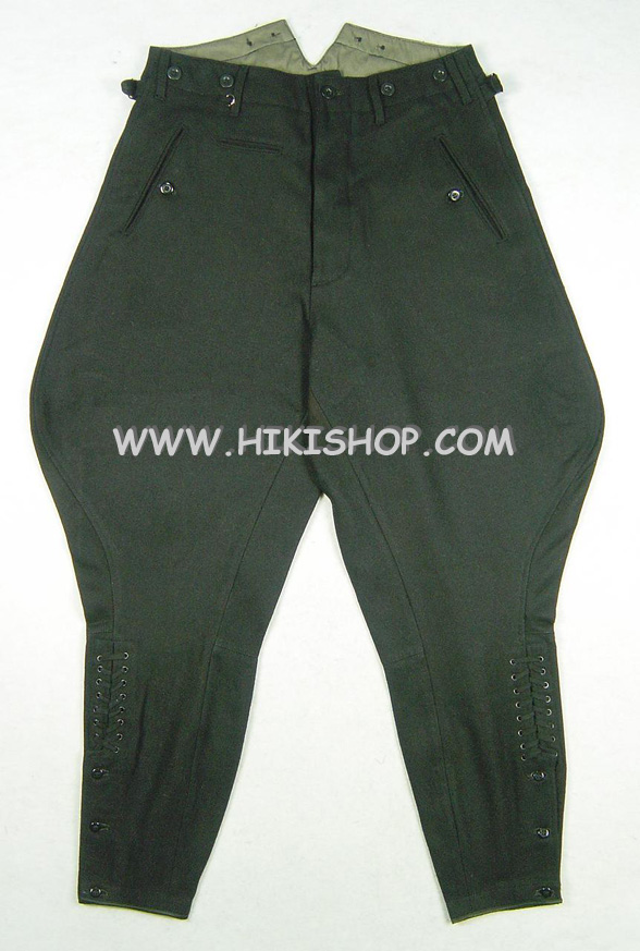 World War 2 WWII German Elite M32 Black Wool Breeches Pants