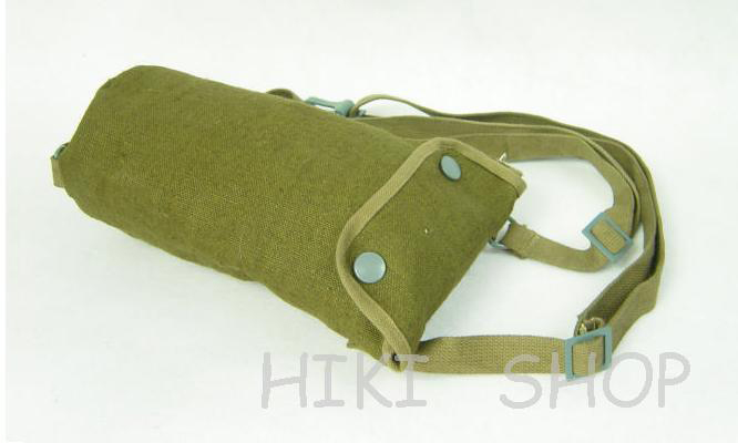 WW2 GERMAN LW Gas Mask Bag Coarse Linen Roughs Green