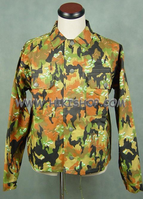 WW2 GERMAN M45 LEIBERMUSTER CAMO TUNIC - HBT cotton fabric