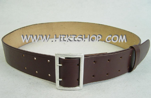 WW2 German Officer Double Claw Belt Rero Dark Brown