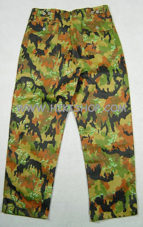 WW2 GERMAN M45 LEIBERMUSTER CAMO TROUSERS - HBT cotton fabric