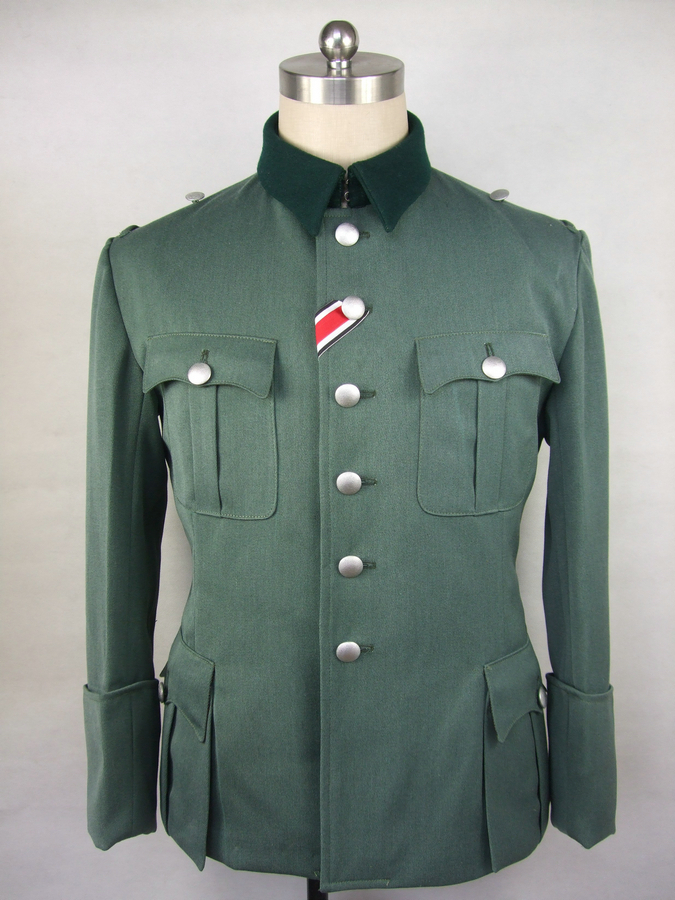 WWII German Field Grey Gabardine Officer M36 Tunic Jacket