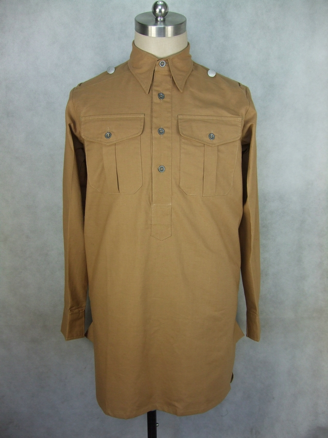 WWII German M43 Service Shirt Tan
