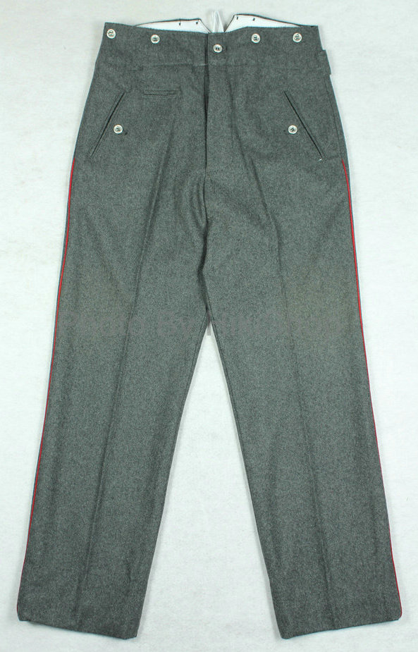 WWI World War 1 German Stone Grey Wool Trousers Pants