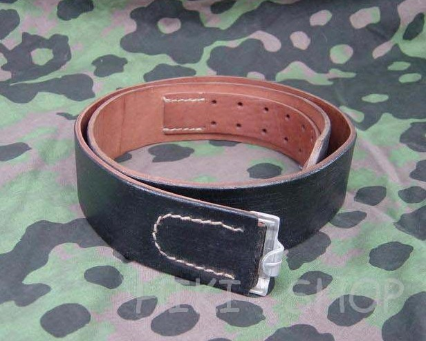 WWII German EM Leather Belt...