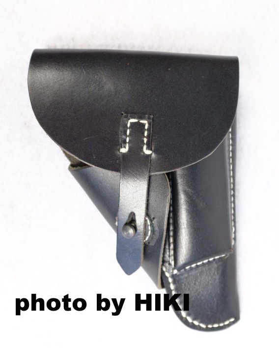 WWII German PPK Soft Leather Shell Holster Black