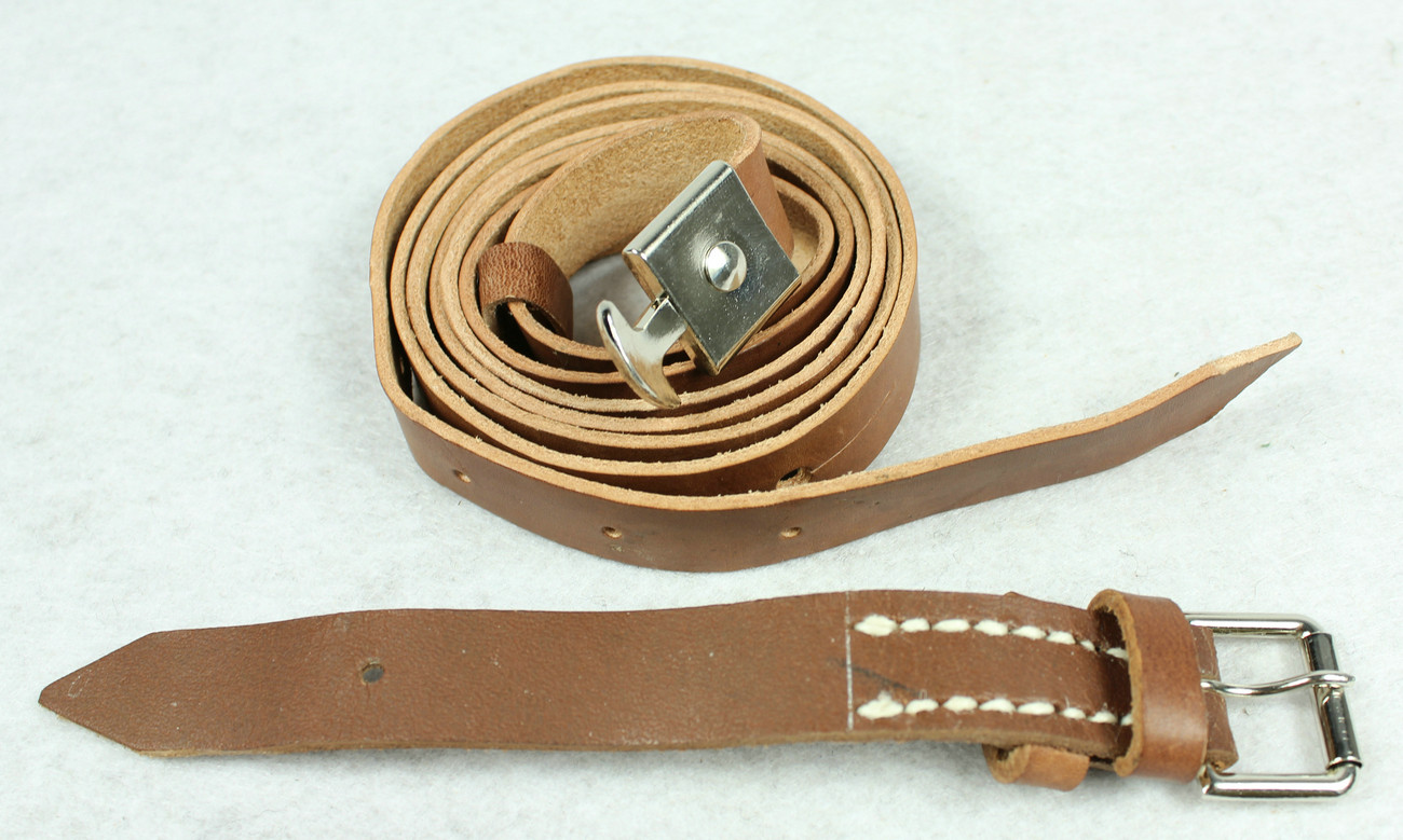 WW1 German Leather Carry Strap For Binoculars Case Light Brown