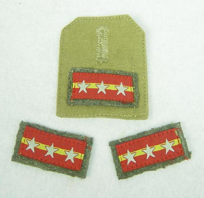 WWII IJA NCO collar tabs & tropic breast rank replic