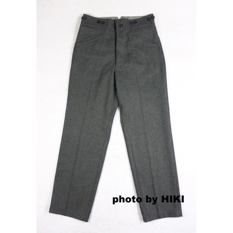 WWII Finnish M36 Stone Grey Wool Field Trousers Pants