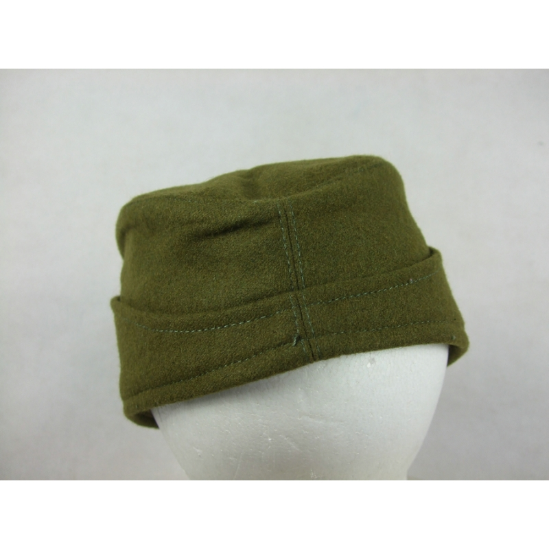 WWII Czechoslovak Green Wool Side Cap