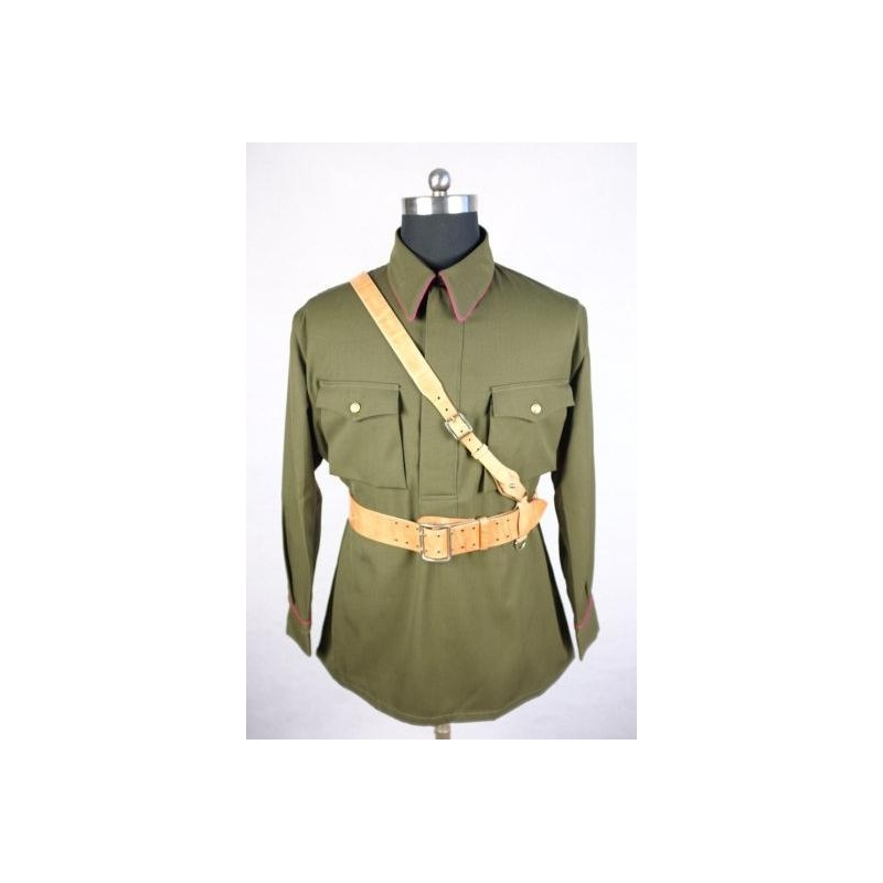 WW2 Soviet Red Army M35 Infantry Officer Green Gabardine Shirt