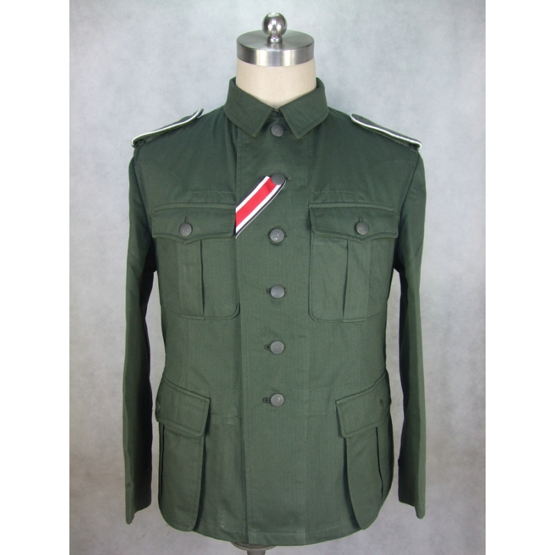 WWII German EM Soldier HBT M41 Field Tunic Jacket