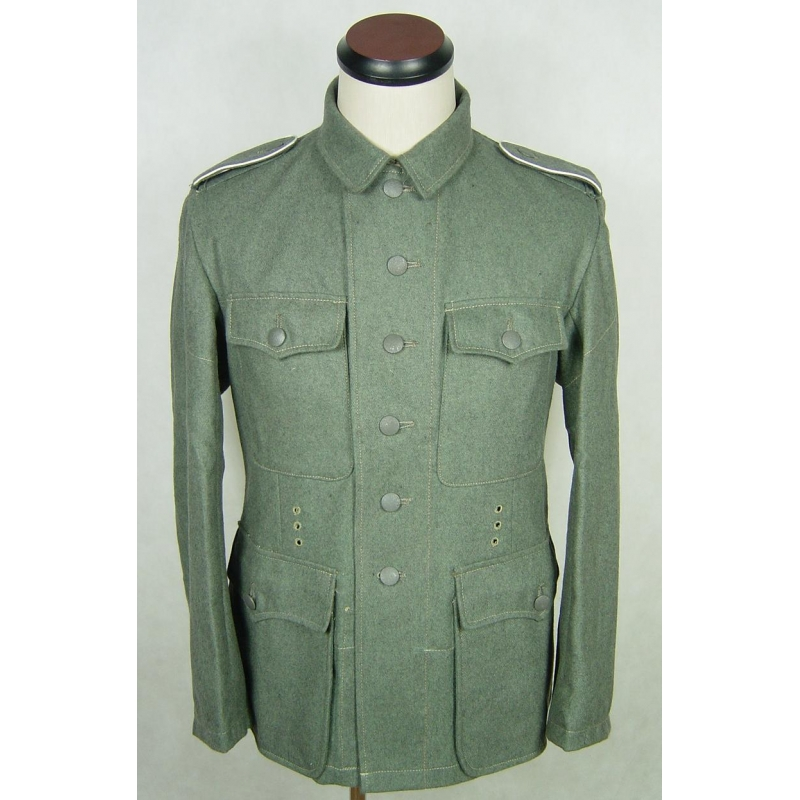 WWII German Field Grey Wool M42 EM Field Tunic WH
