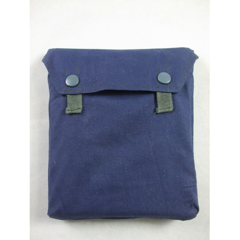 WWII German Gas Mask Cape Pouch Reproduction Blue