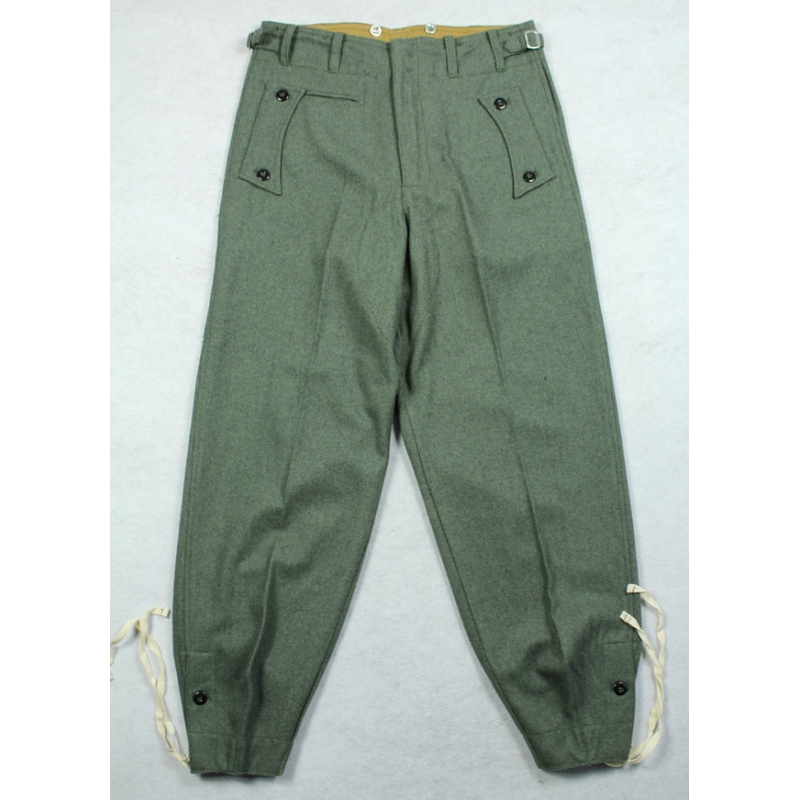 WWII German Elite M40 Field Gray Wool Panzer Trousers Pants