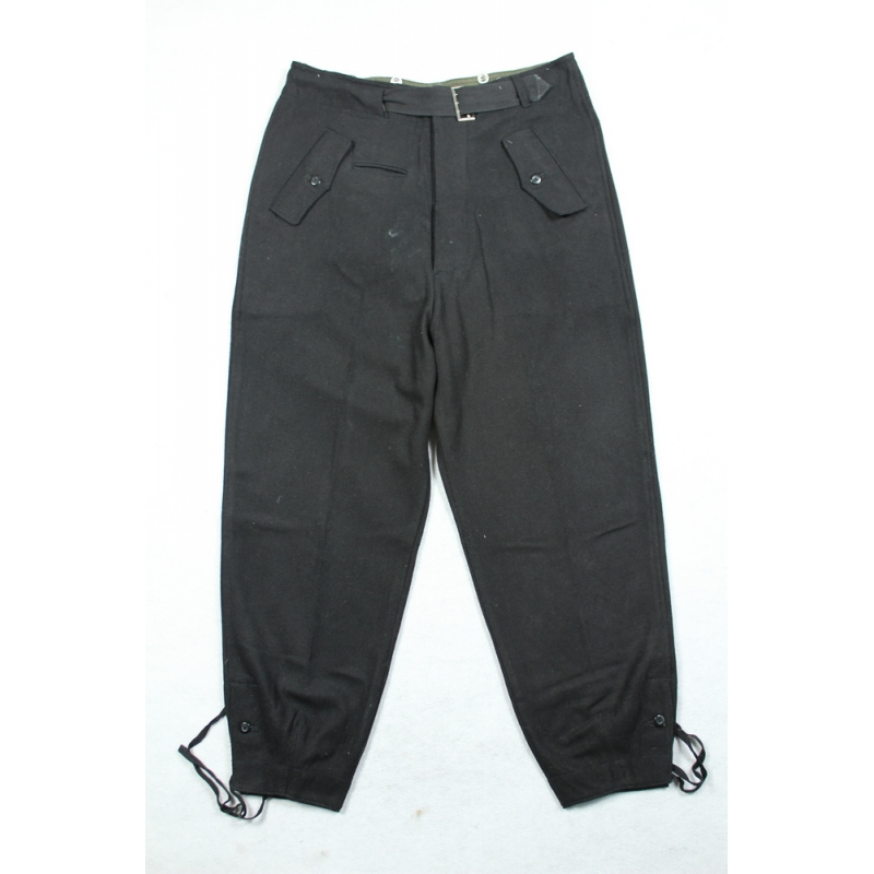 WWII German WH Heer Black Wool Panzer Trousers Pants