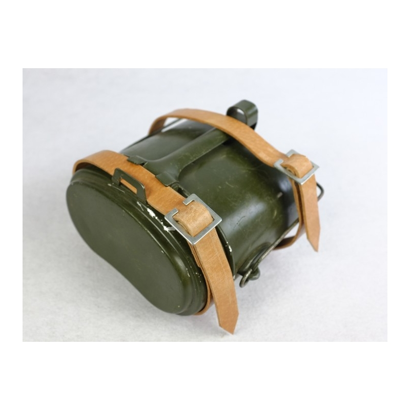 WWII Russian Mess Kit With 2 x Leather Strap
