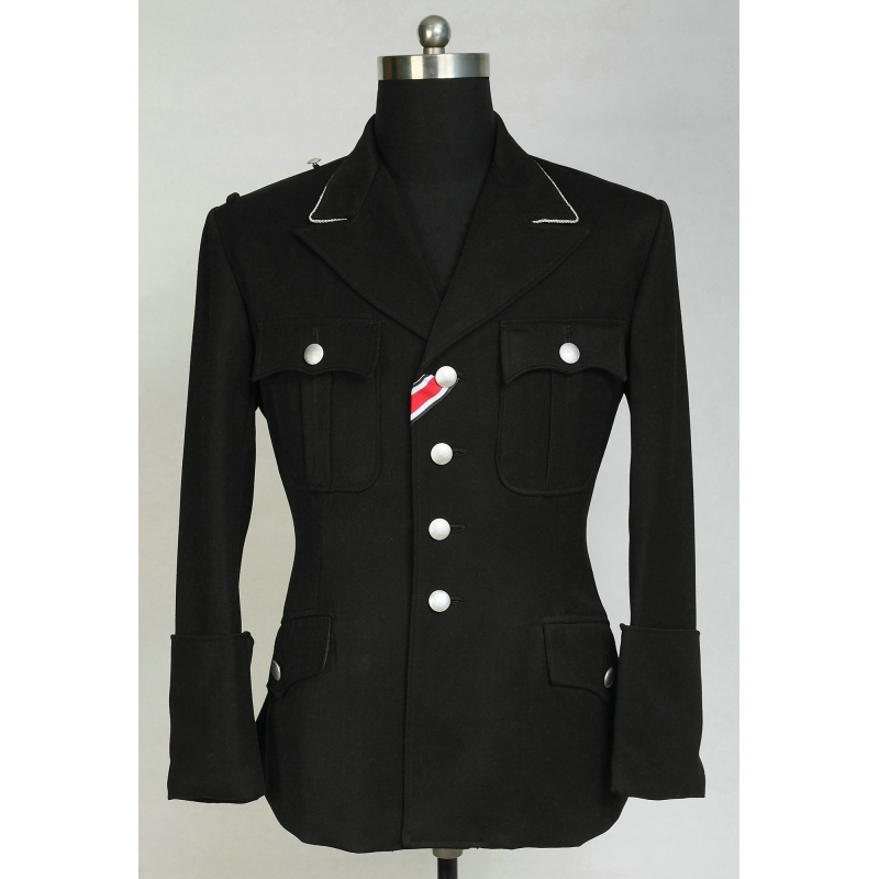 WWII German Elite M32 Officer Black Gabardine Dress Tunic Jacket