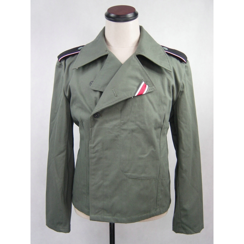 WWII German Elite Panzer HBT Tunic Wrap Jacket