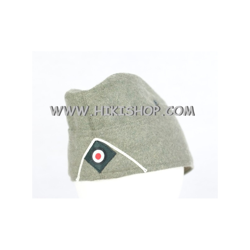 WWII German WH M35 Side Cap EM Field Gray Wool