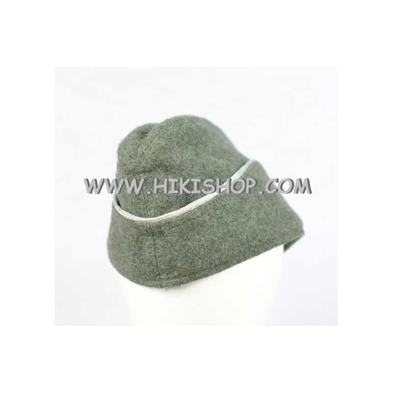 WWII German Elite M40 Wool Side Cap Officer Fieldgrey