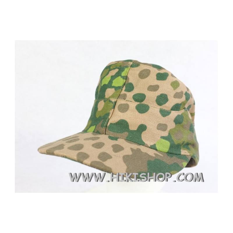 German Waffen Elite 44 Pea Dot Camo Field Cap With Badge