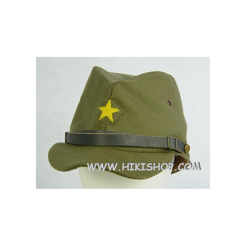 77dc482ed36 WWII JP Army IJA Field Cap Officer Green Gabardine -  35.99   HIKISHOP