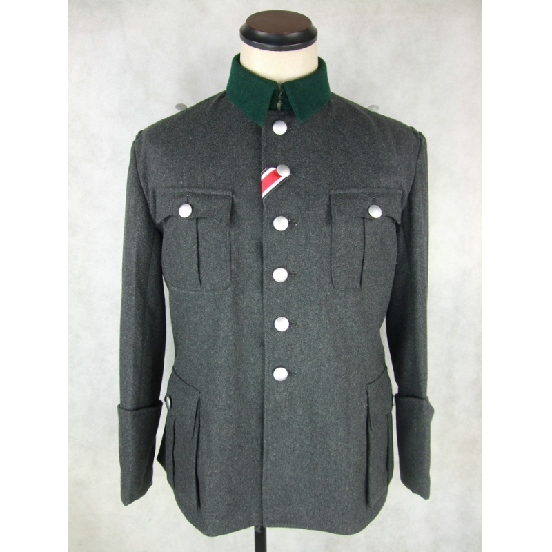 WWII World War 2 German M36 Officer Tunic Stone Grey Wool