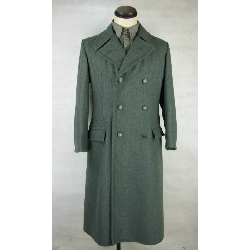 WW2 Italy Italian Gray Green Wool Officer Great Coat Cappotto