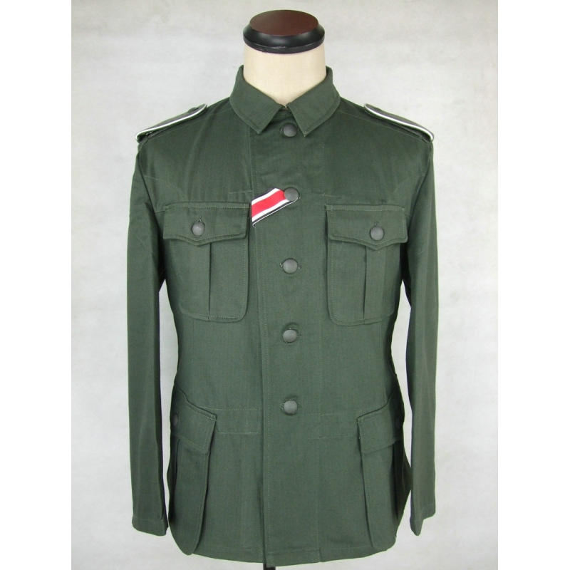 WWII German EM Soldier WH Elite HBT M40 Field Tunic Jacket