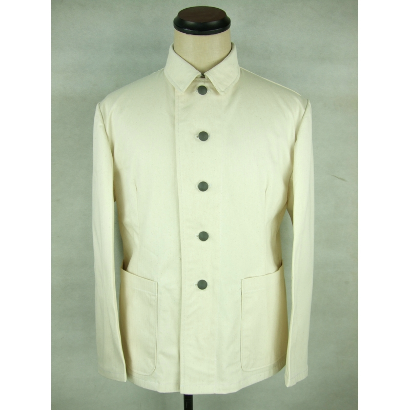 WWII German Summer HBT Off White Drill Service Tunic Jacket