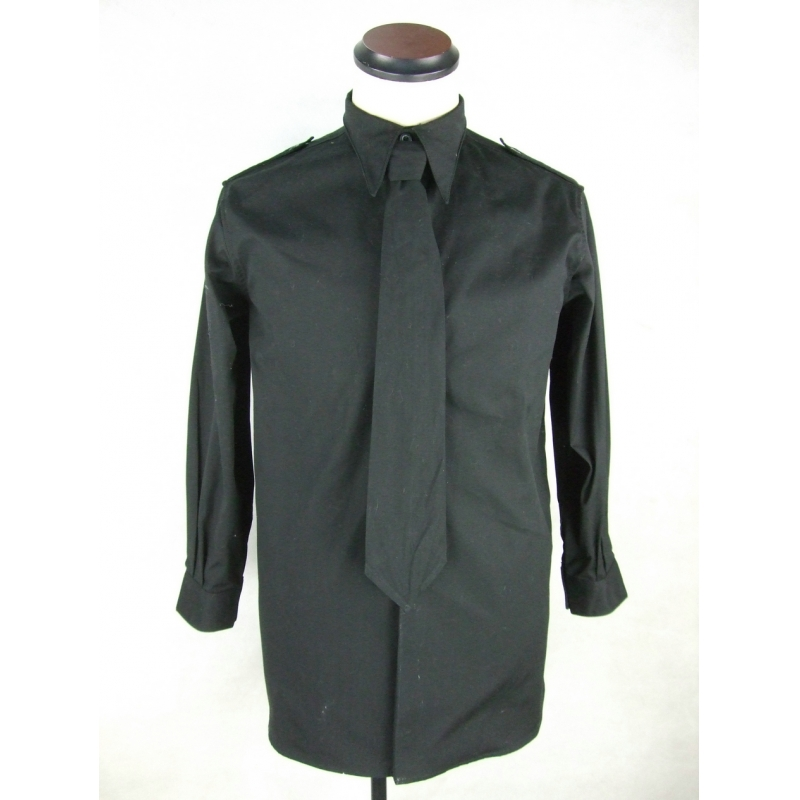 WW2 Italy Italian Camicia Black Cotton Service Shirt + Tie