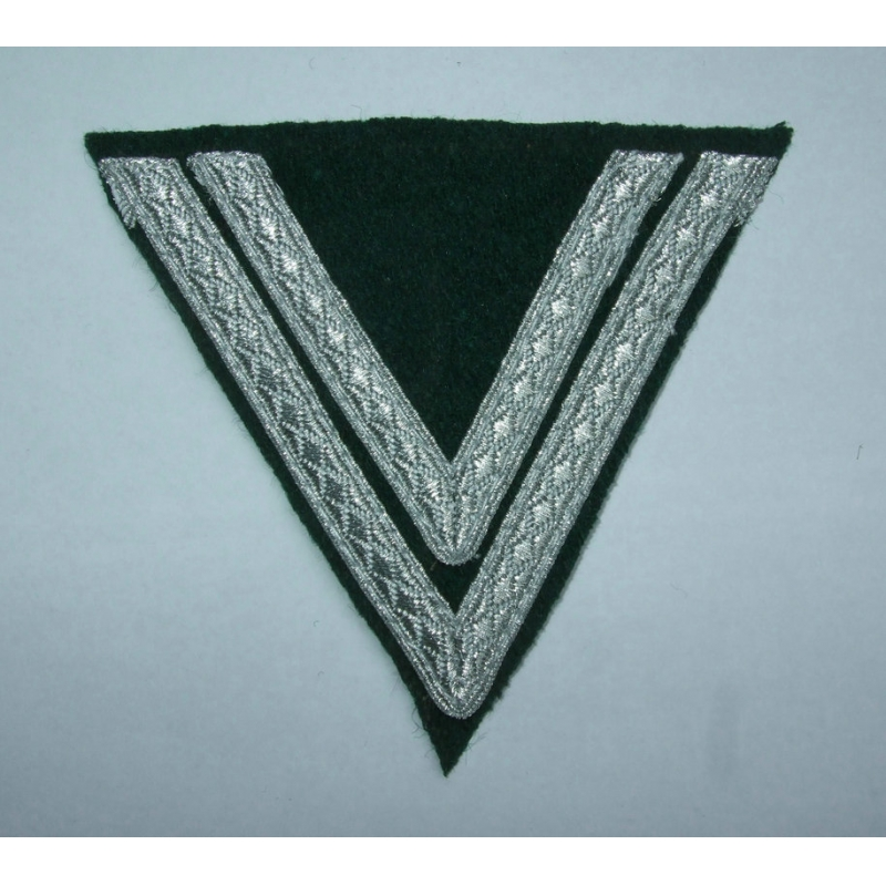 WWII German Sleeve Chevrons OBERGEFREITER INFANTRY Green Wool