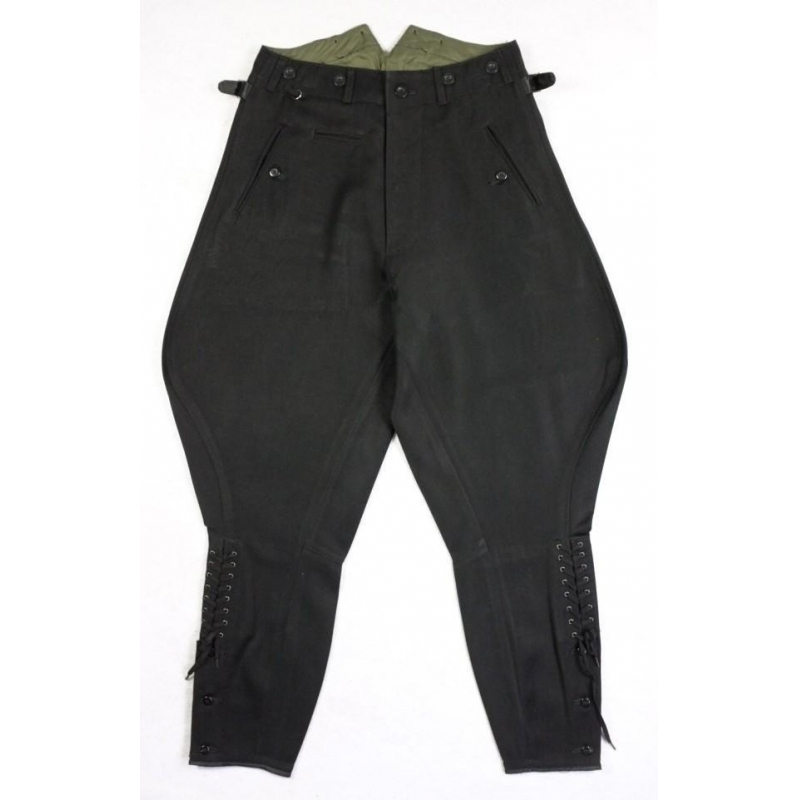WW2 German Elite M32 Black Gabardine Breeches Dress Pants