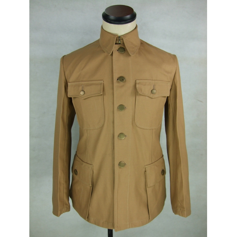 WW2 China KMT Officer Field Jacket Tunic Sand Khaki