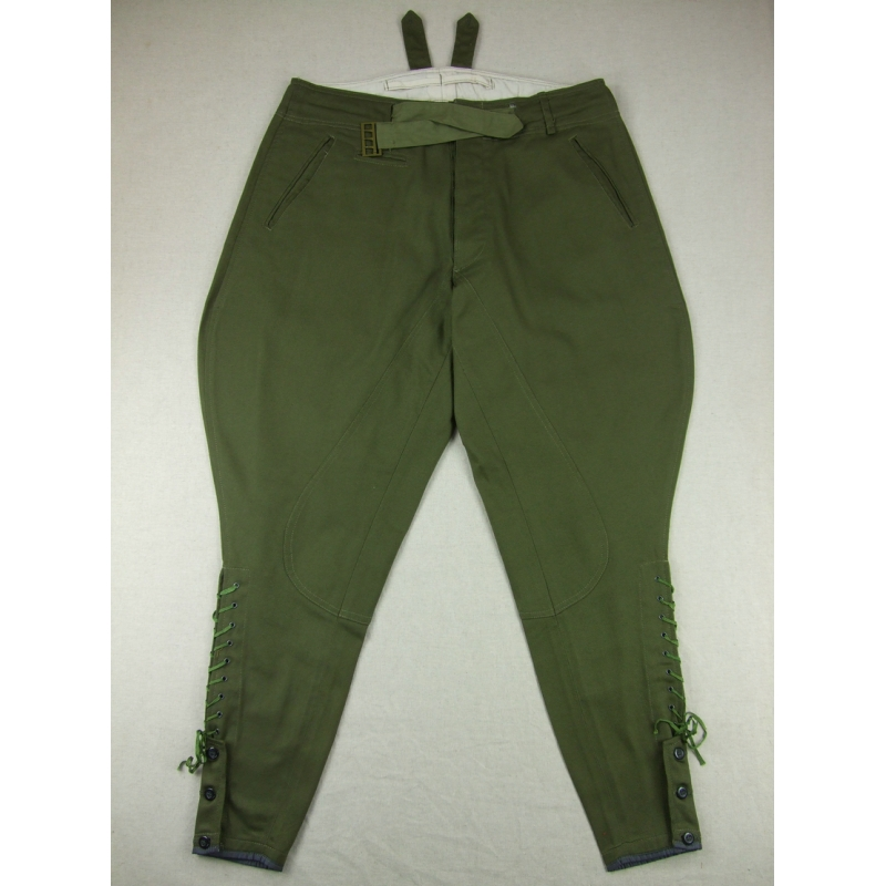 WWII German DAK Afrikakorps Breeches Green