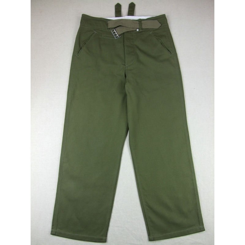 WWII German DAK Afrikakorps Field Trousers Pants Green