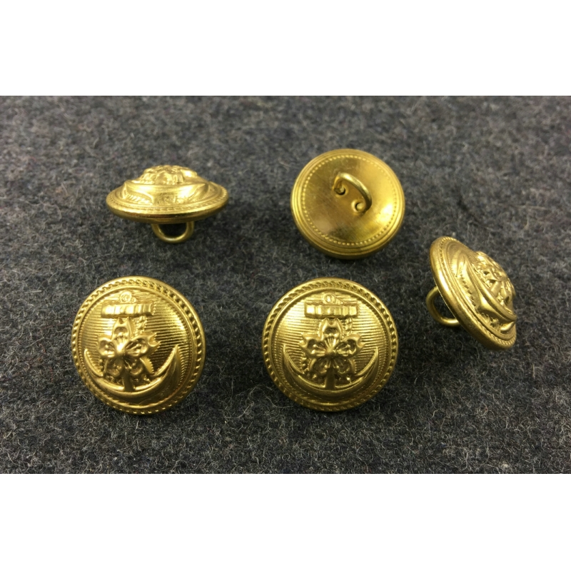 WW2 IJN Japanese Imperial Navy Buttons 21 mm X5