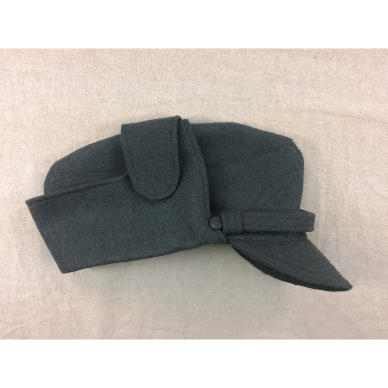 WWII WW2 Italian Uniform Grey Green Wool Field Visor Cap