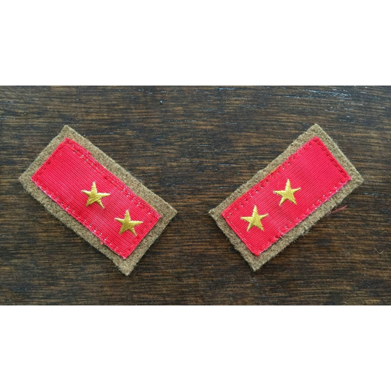 WWII WW2 IJA Japanese Army Private 1st Class Collar Tabs Pair