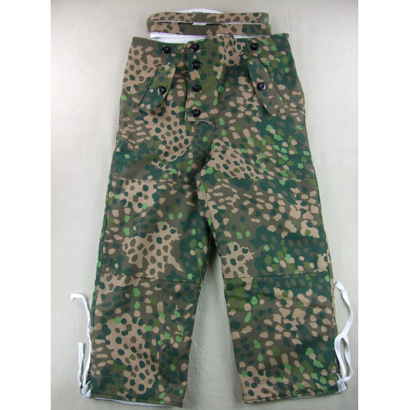 WW2 German Elite HBT Pea Dot Reversible Winter Trousers
